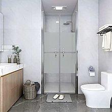 SKM Shower Door Half Frosted ESG 91x190 cm