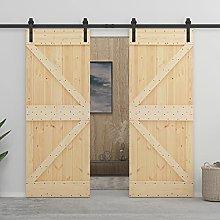 SKM Sliding Door with Hardware Set 90x210 cm Solid