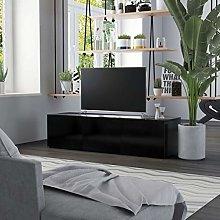 SKM TV Cabinet Black 120x34x30 cm Chipboard