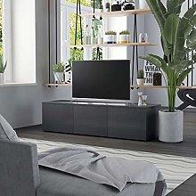 SKM TV Cabinet Grey 120x34x30 cm Chipboard