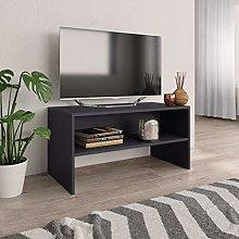 SKM TV Cabinet Grey 80x40x40 cm Chipboard