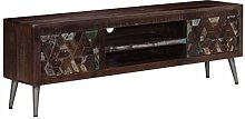 SKM TV Cabinet Solid Reclaimed Wood 140x30x45 cm