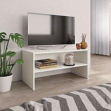 SKM TV Cabinet White 80x40x40 cm Chipboard