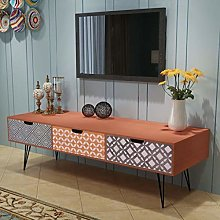 SKM TV Cabinet with 3 Drawers 120x40x36 cm Brown