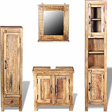 SKM Vanity Cabinet with Mirror and 2 Side Cabinets