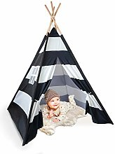 Skojig Teepee Tent For Kids With Floor & Pillows -