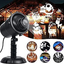 SKSNB LED Snowflake Christmas Projector