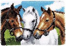 SKTWOE Horse DIY Latch Hook Cushion Kit Latch Hook