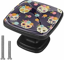 Skull Art Drawer Pulls Handle Cupboard Cabinet