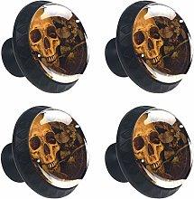 Skull Brown Bone Cabinet Door Knobs Handles Pulls