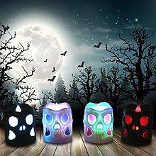 Skull Decor Candle Lights, Halloween Decorations,