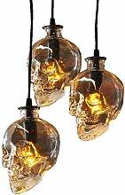 Skull Glass Small Ceiling Pendant Lamp, BAYCHEER