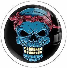 Skull Head with Bandana 4 Pack Drawer Knobs