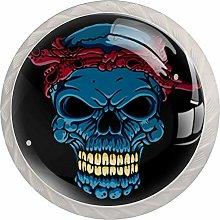 Skull Head with Bandana Solid Kitchen Cabinet