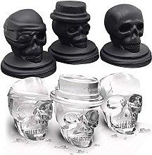 Skull Ice Mold, Smilatte Pop 3D Flexible Large
