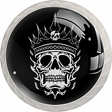 Skull King Round Cabinet Knobs 4pcs Knobs for