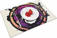 Skull Logo Insulation Heat Resistant Table Mats