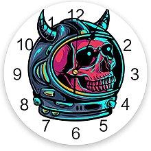 Skull Silent Non Ticking Wall Clock, Battery