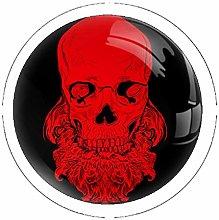 Skull with Beard 4PCS Drawer Knob Pull Handle