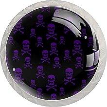 Skull with Crossbones, Cabinet Knob Premium Drawer