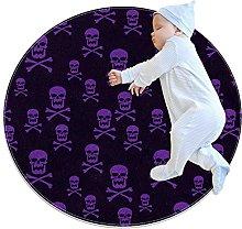 Skull with crossbones, Kids Nursery Rug Play Mat