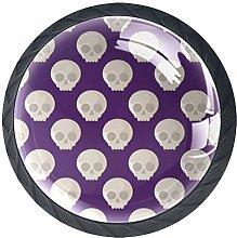 Skulls 4 PCS Decorative Cabinet Wardrobe Furniture