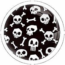 Skulls with Bones Vintage Knob Metal Cabinet