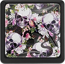 Skulls with Flowers Butterflies Birds Snake Square