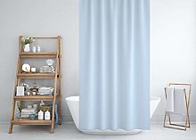 Sky blue extra long and wide fabric shower