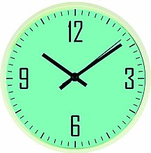 Sky Blue Modern Wall Clock, Quiet Tick Sweep