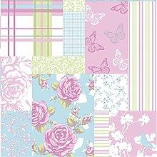 Sky Blue/Pink - M0720 - Pollyanna - Patchwork Rose