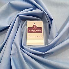 Sky Blue Plain Polyester Cotton Fabric - Dress