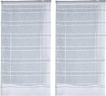 Sky of France Curtain Pair of Glass, Polyester,