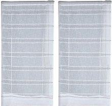 Sky of France Pair of Curtain, Polyester, grey,