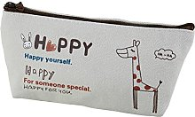 Skyeye Pencil Bag Giraffe Patterned Canvas Pencil