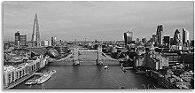 Skyline London Black and White Landmarks Panoramic