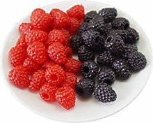 Skyseeen 20pcs Artificial Fruit Raspberry(Mixed)
