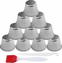 Skystuff 10Pcs Pudding Moulds Aluminum Baking Cup