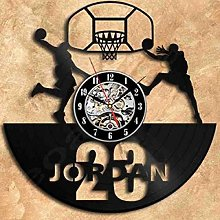 SKYTY Vinyl Wall Clock-Basketball Player Wall