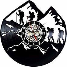 SKYTY Vinyl Wall Clock-Climbing Lovers Wall