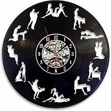 SKYTY Vinyl Wall Clock-Couple Sex Wall