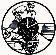 SKYTY Vinyl Wall Clock-Ice Hockey Lovers Wall