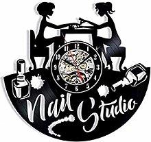 SKYTY Vinyl Wall Clock-Nail Shop Wall Clock-Retro