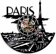 SKYTY Vinyl Wall Clock-Paris Eiffel Tower Wall