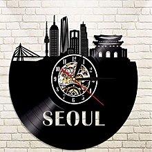 SKYTY Vinyl Wall Clock-Seoul City Building Wall