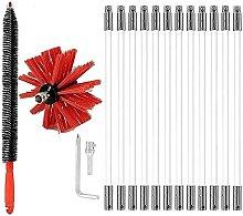 SKYWPOJU 24FT Dry Vent Cleaning Brush Kit, Lint