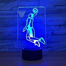 Slam Dunk Play Basketball 3D LED Lamp Lighting