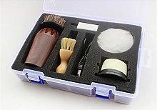 SLATIOM 1Set Shoe Shine Care kit Imitation Wood
