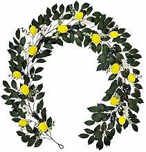 SLDHFE Artificial Lemon Garland, 74.8inch