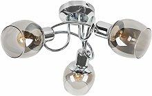 Sleek LED Ceiling Light 3 Way Swirl Chrome Finish